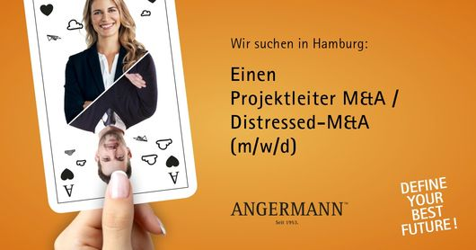 Stellenangebot Projektleiter Distessed M&A Angermann Hamburg